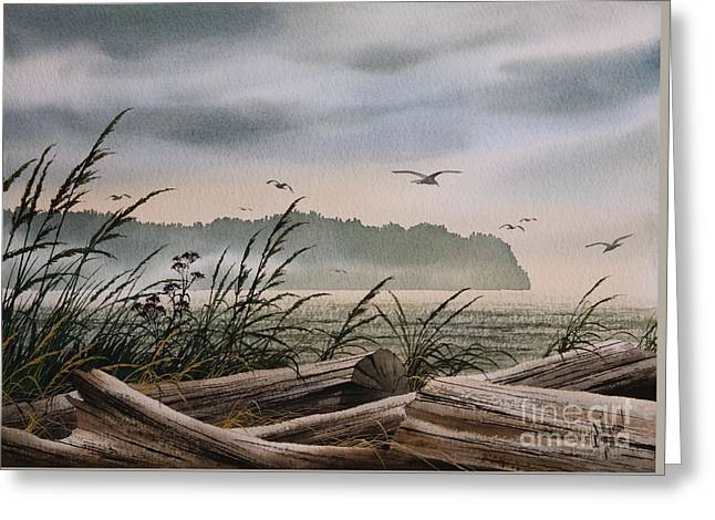 Artist James Williamson Maritime Print Greeting Cards - Ocean Shore Greeting Card by James Williamson