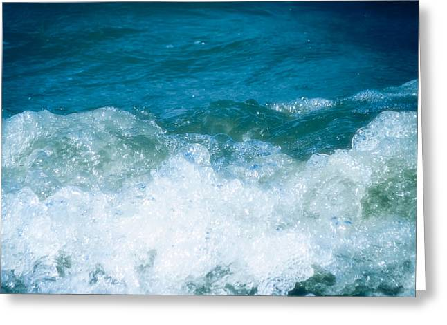 Tropical Oceans Greeting Cards - Ocean Splashes Greeting Card by Wim Lanclus
