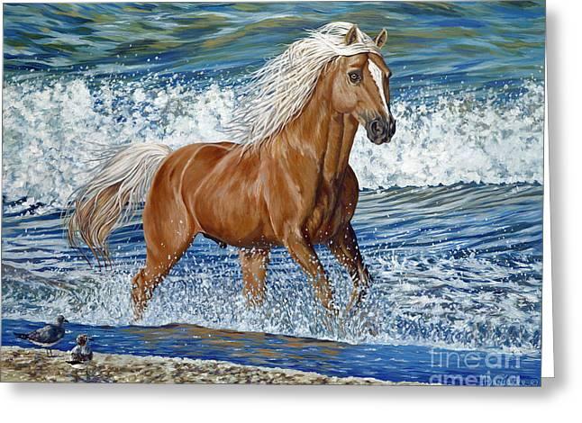 Danielle Perry Greeting Cards - Ocean Stallion Greeting Card by Danielle  Perry