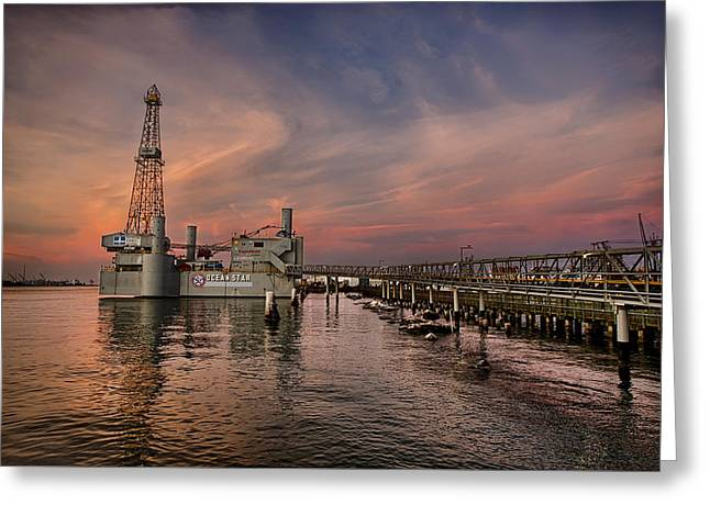 Galveston Greeting Cards - Ocean Star Greeting Card by Thomas Zimmerman