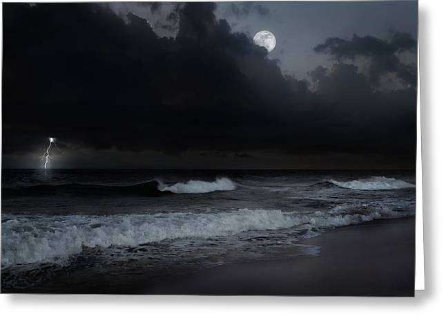 New England Coast Greeting Cards - Ocean Storm Greeting Card by Bill  Wakeley