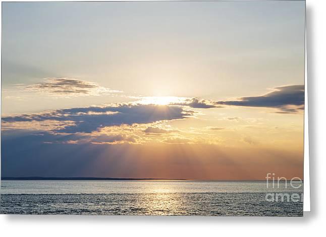 Princes Greeting Cards - Ocean sunset Greeting Card by Elena Elisseeva