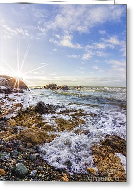 Ocean Surf Greeting Card by Ian Mitchell