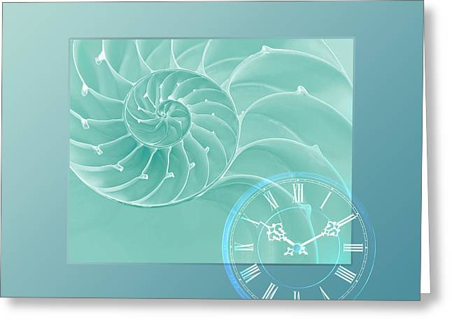 Soft Clocks Greeting Cards - Ocean Time Greeting Card by Gill Billington