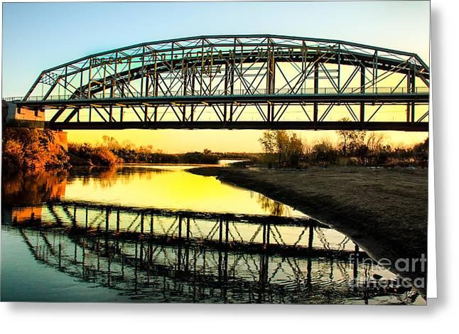 Ocean-to- Ocean Bridge Greeting Card by Robert Bales