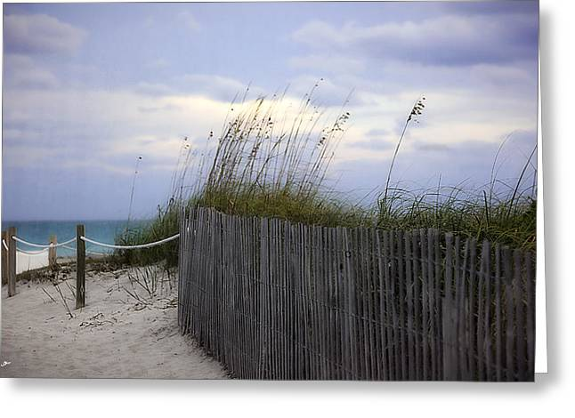 Blue Green Water Greeting Cards - Ocean View 2 - Miami Beach - Florida Greeting Card by Madeline Ellis