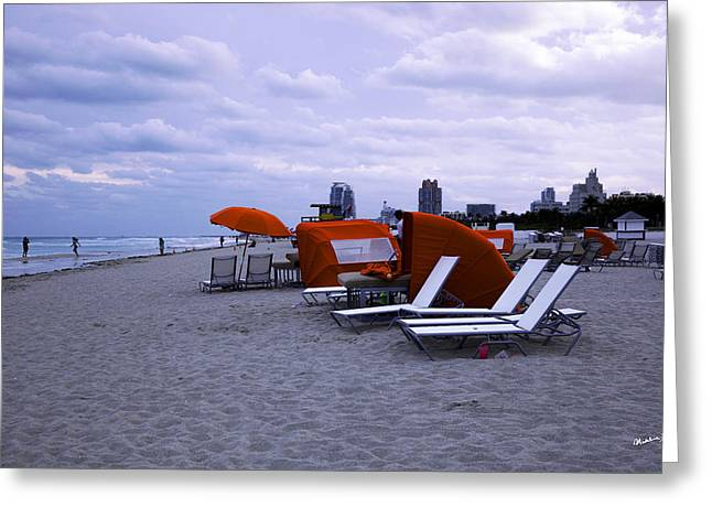 Ocean View 6 - Miami Beach - Florida Greeting Card by Madeline Ellis