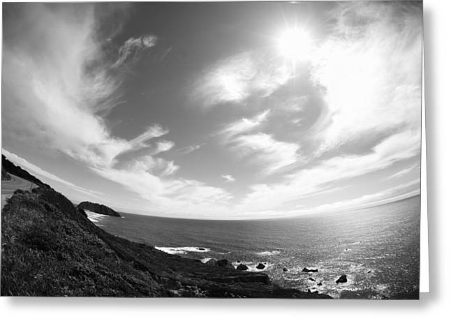 Pch Digital Art Greeting Cards - Ocean view from Pacific Coast Hwy Greeting Card by Sarah Kramer