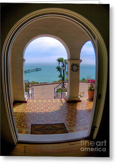 Casa Romantica Greeting Cards - Ocean View Greeting Card by Kim Michaels