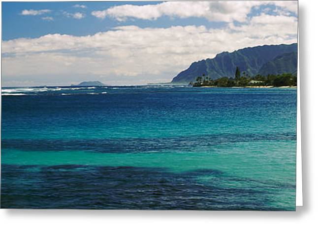 Ocean Photography Greeting Cards - Ocean View, Oahu, Hawaii, Usa Greeting Card by Panoramic Images