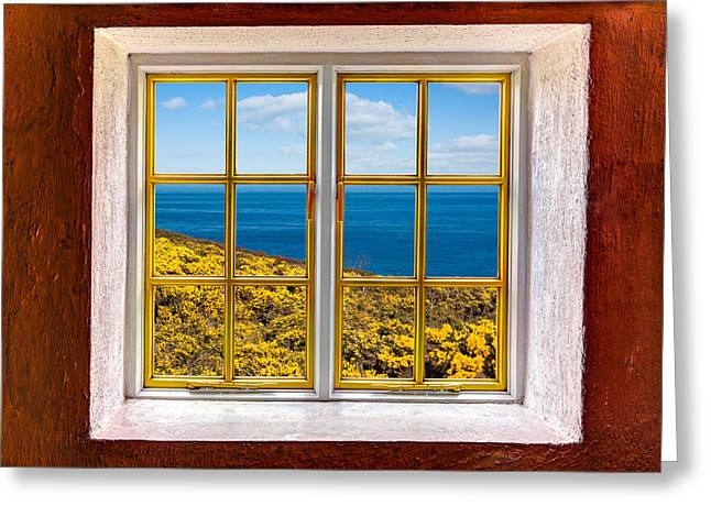 Cabin Window Greeting Cards - Ocean View Greeting Card by Semmick Photo