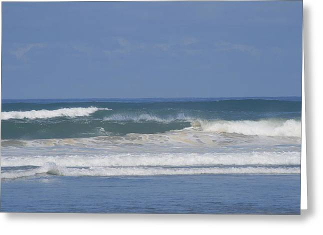 90 Mile Beach Greeting Cards - Ocean Wave 1 Greeting Card by Phoenix De Vries