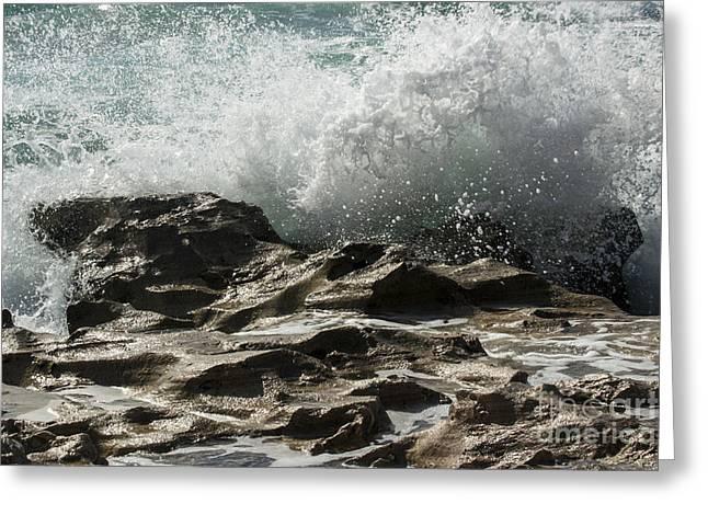 Environemtn Greeting Cards - Ocean Wave Action  Greeting Card by Darleen Stry