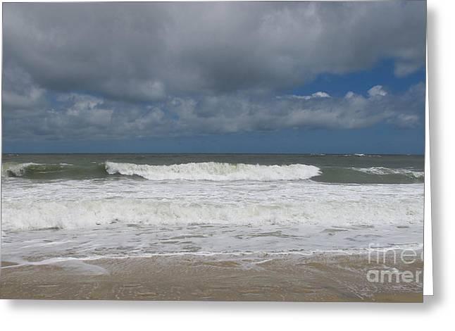 Ocean Wave Greeting Card by Arlene Carmel