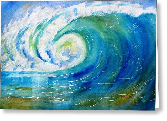 Recently Sold -  - Surfing Art Greeting Cards - Ocean Wave Greeting Card by Carlin Blahnik