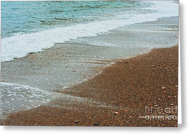 Blue Green Wave Greeting Cards - Ocean Wave Color Palette Greeting Card by Artist and Photographer Laura Wrede