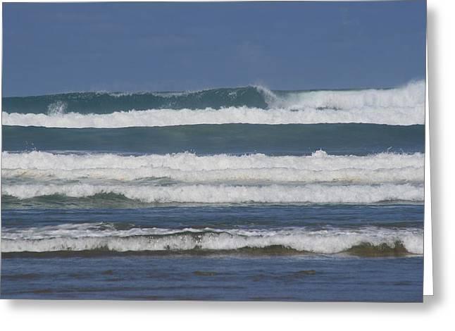 90 Mile Beach Greeting Cards - Ocean Waves 3 Greeting Card by Phoenix De Vries