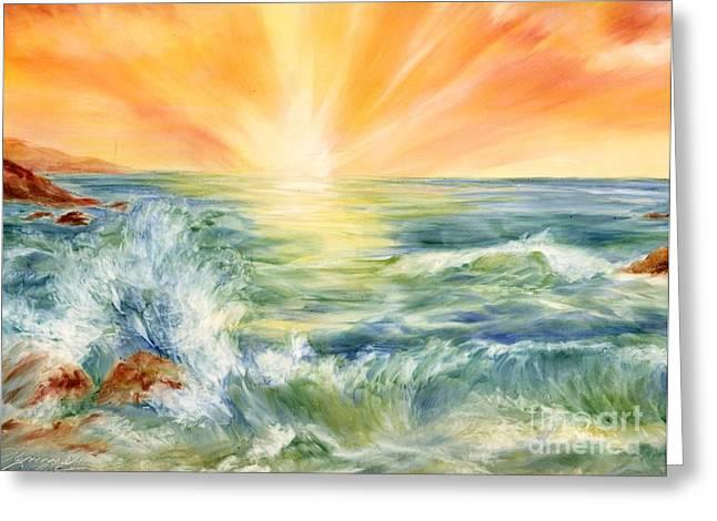 Summer Celeste Greeting Cards - Ocean Waves III Greeting Card by Summer Celeste