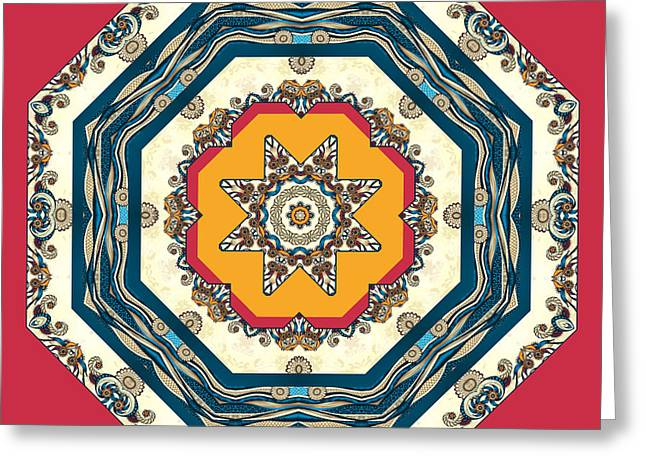 Ocean Waves - Mandakal 04cm22a Greeting Card by Aimelle