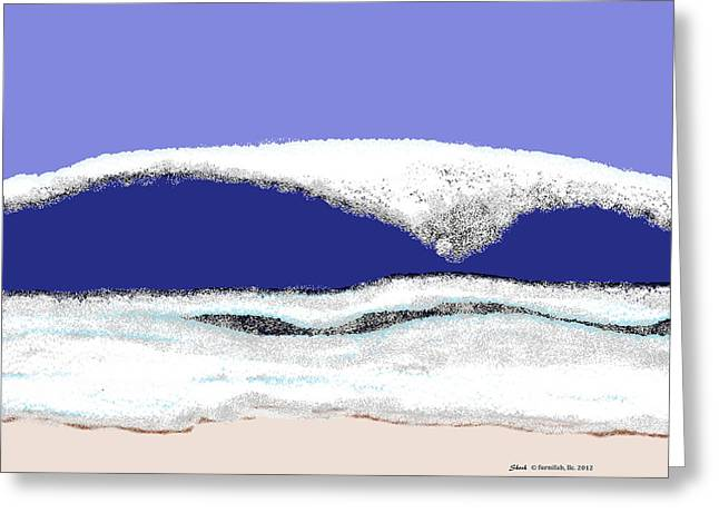 Shesh Tantry Greeting Cards - Ocean Waves Greeting Card by Shesh Tantry