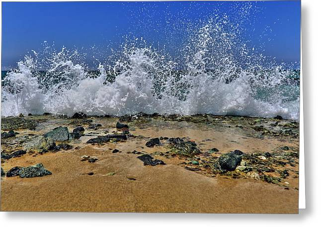 Dancing On The Beach Greeting Cards - Ocean Whitewash Greeting Card by Richard Cheski