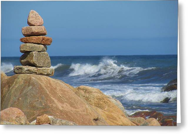 Recently Sold -  - New England Ocean Greeting Cards - Ocean Zen Greeting Card by Tammie Miller
