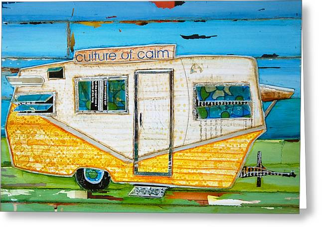Culture Mixed Media Greeting Cards - Oceanfront Property Greeting Card by Danny Phillips