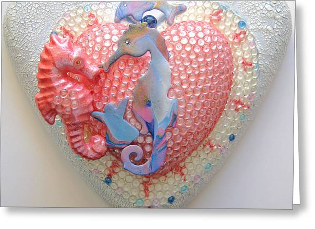 Heart Reliefs Greeting Cards - Oceania Greeting Card by Heidi Sieber