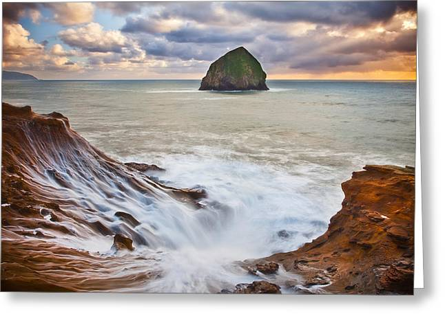 Pacific Northwest Greeting Cards - Oceanic Art Greeting Card by Darren  White
