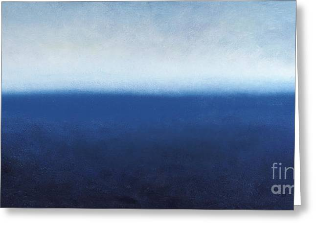 Best Sellers -  - Abstract Expressionist Greeting Cards - Oceanic Meditation Greeting Card by Tiffany Davis-Rustam