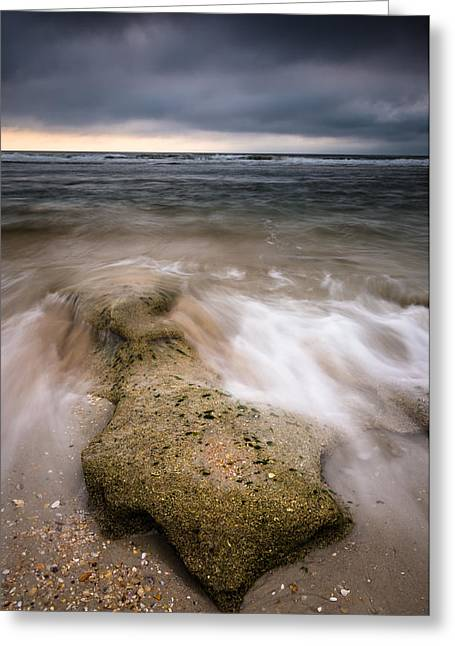 Beach Photography Digital Greeting Cards - Oceans Aggression Greeting Card by Clay Townsend