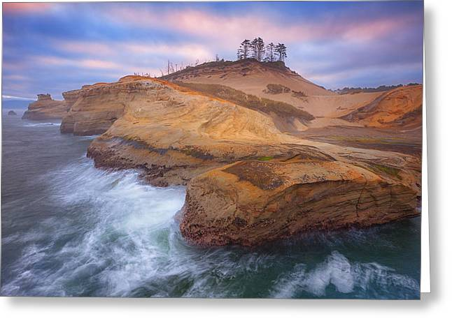 Sunrise Greeting Cards - Oceans Artwork Greeting Card by Darren  White