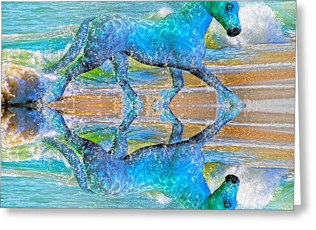 Ocean Shore Mixed Media Greeting Cards - Oceans Greeting Card by Betsy C  Knapp