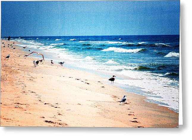 Best Sellers -  - Beach Cottage Style Greeting Cards - Oceans calming waves Greeting Card by Dick Wood