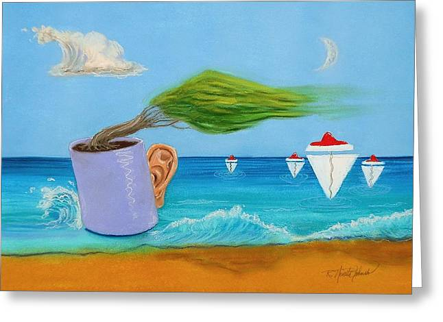 Ocean's Dream Greeting Card by R Neville Johnston