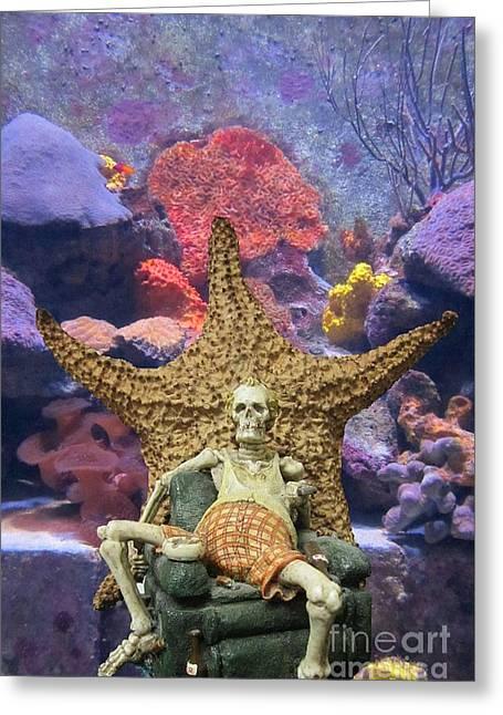 Atlantis Mixed Media Greeting Cards - Oceans in Danger Greeting Card by John Malone
