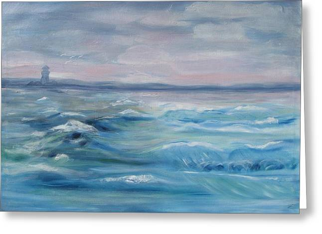 Oceans Of Color Greeting Card by Diane Pape