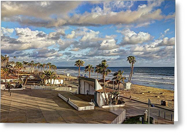Oceanside Amphitheater Greeting Card by Ann Patterson