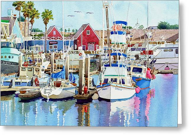 Southern Scene Greeting Cards - Oceanside California Greeting Card by Mary Helmreich