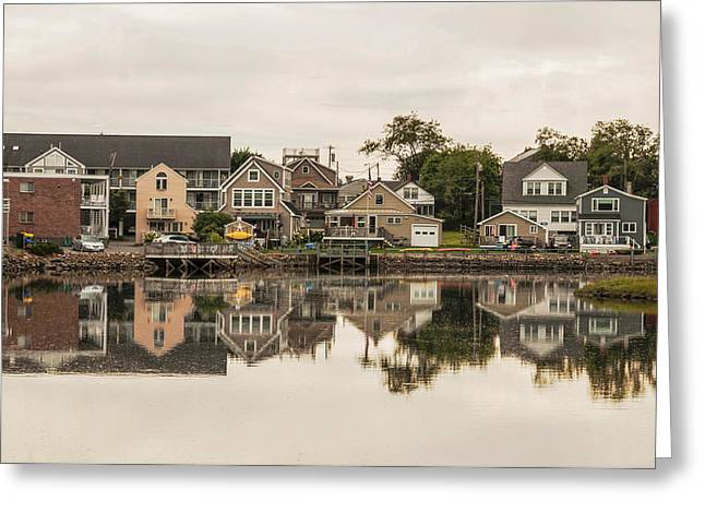 Old Maine Houses Greeting Cards - Oceanside Greeting Card by Enrico Della Pietra
