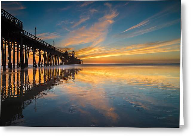 Stunning Greeting Cards - Oceanside Reflections 2 Greeting Card by Larry Marshall