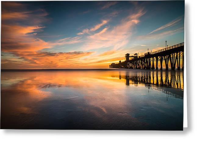 Sd Greeting Cards - Oceanside Reflections 3 Greeting Card by Larry Marshall
