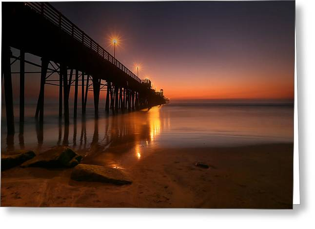 California Ocean Photography Greeting Cards - Oceanside Sunset 15 Greeting Card by Larry Marshall