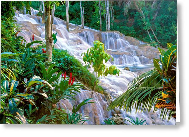 Jurassic Park Greeting Cards - Ocho Rios Jamaica Greeting Card by Cliff Wassmann