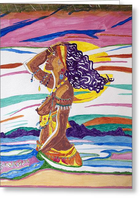 Conceited Greeting Cards - Ochun  Greeting Card by Stormm Bradshaw