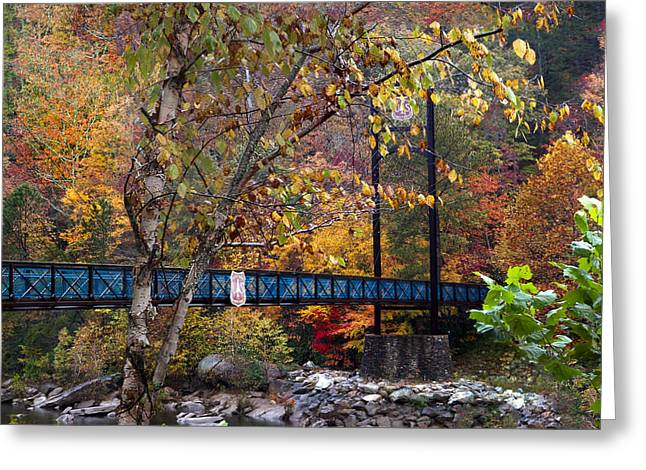 Ocoee River Bridge Greeting Card by Debra and Dave Vanderlaan