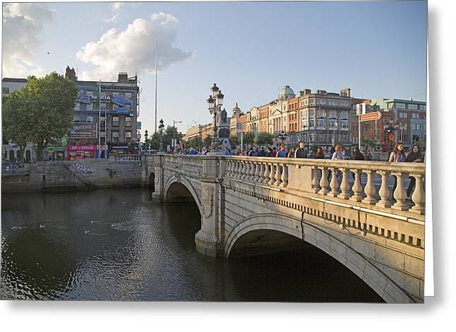 O'connell Bridge Dublin Ireland Greeting Card by Betsy C Knapp