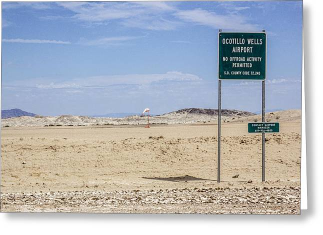 Palm Springs Airport Greeting Cards - Ocotillo Wells Airport Greeting Card by Photographic Art by Russel Ray Photos