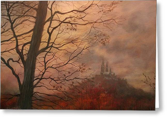 October At Holy Hill Greeting Card by Tom Shropshire