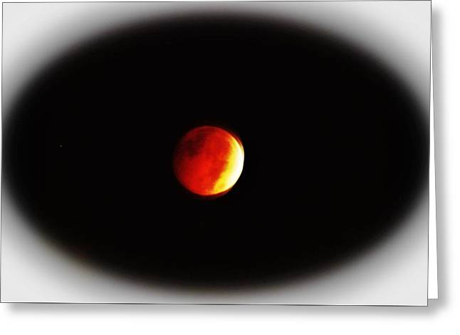 Illuminate Greeting Cards - October Blood Moon Greeting Card by Cynthia Guinn